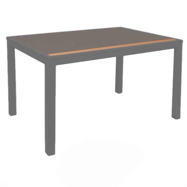 "BFM Seating PH-SLAT-3232-4L Longport Synthetic Teak 32"" x 32"" 4 Leg Table Top Slat Main Image 1"