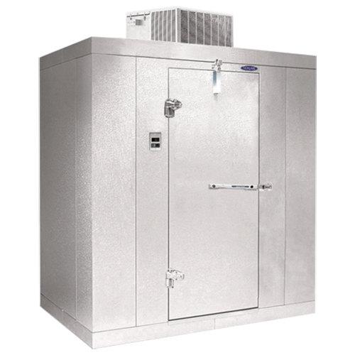 """Left Hinged Door Nor-Lake KLB8466-C Kold Locker 6' x 6' x 8' 4"""" Floorless Indoor Walk-In Cooler"""
