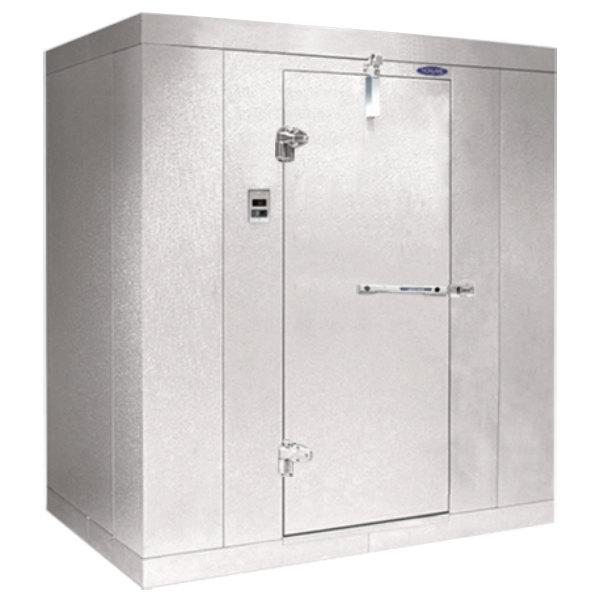 """Left Hinged Door Nor-Lake KL8466 Kold Locker 6' x 6' x 8' 4"""" Floorless Indoor Walk-In Cooler Box"""