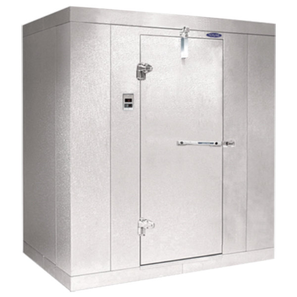 """Left Hinged Door Nor-Lake KL84614 Kold Locker 6' x 14' x 8' 4"""" Floorless Indoor Walk-In Cooler Box"""