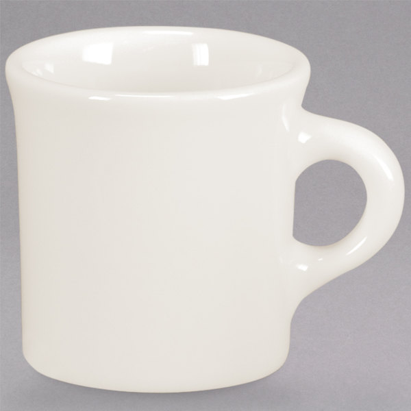 Homer Laughlin by Steelite International HL30000 8.75 oz. Ivory (American White) Narrow Rim China Mug - 36/Case Main Image 1