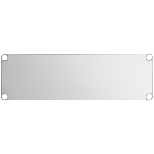 """Regency Adjustable Stainless Steel Work Table Undershelf for 18"""" x 48"""" Tables - 18 Gauge Main Image 1"""