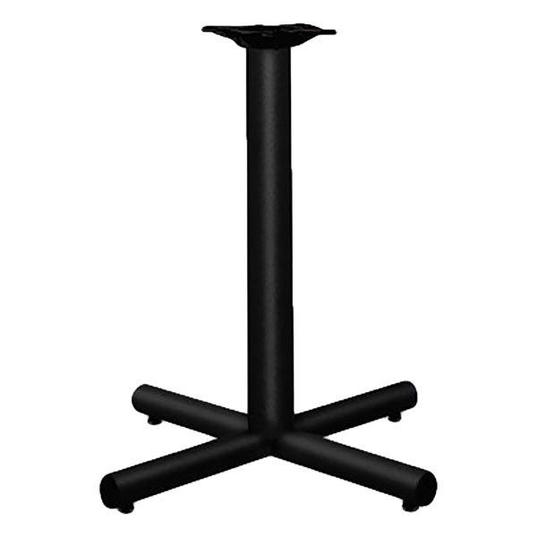 "HON XSP26P Hospitality 26"" x 26"" x 27 7/8"" Black Single Column Steel Table Base Main Image 1"