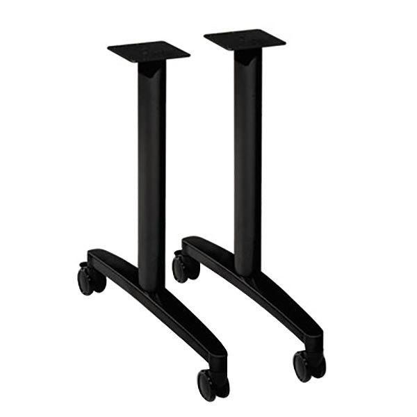 "HON MTLEG24CP Huddle 39 1/4"" x 23 1/2"" T-Leg Table Base - 2/Case Main Image 1"