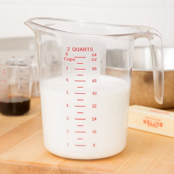 Choice 2 Qt Clear Plastic Measuring Cup With Gradations