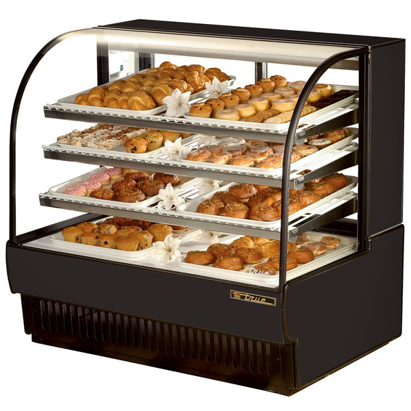True TCGD-50 50 inch Black Dry Bakery Display Case - 23.8 Cu. Ft.