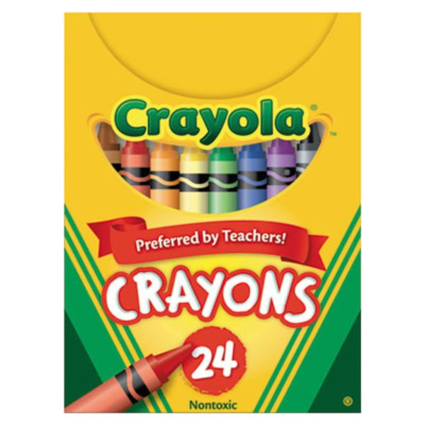 Crayola 520024 Classic Assorted 24 Color Crayon Tuck Box - 24/Box