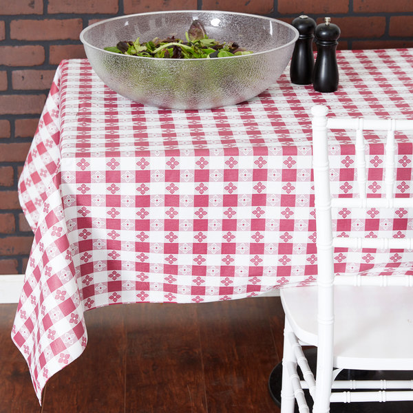 vinyl table cover with flannel back