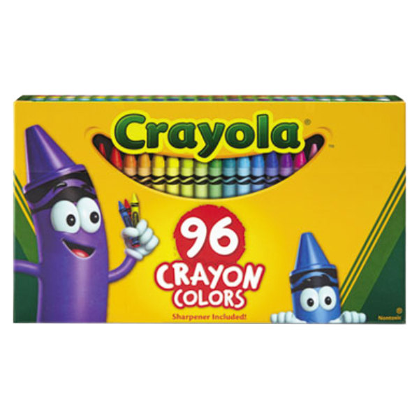 Crayola 520096 Classic Assorted 96 Color Crayon Box with Sharpener