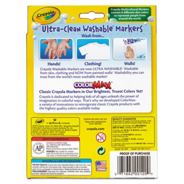 crayola 587801 ultra clean assorted 8 multicultural color conical