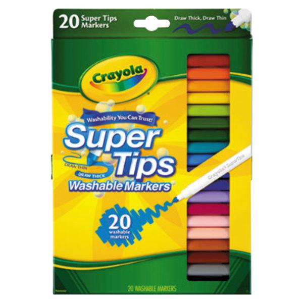 Crayola 588106 Super Tips Assorted 20 Color Washable Marker Set