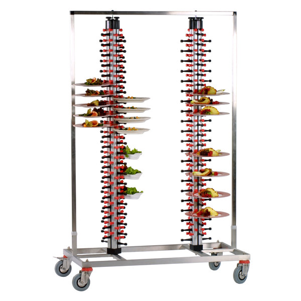 """Plate Mate PM168-180 Twin Mobile Plate Rack Holds 168 Plates 73 3/4""""H Main Image 2"""