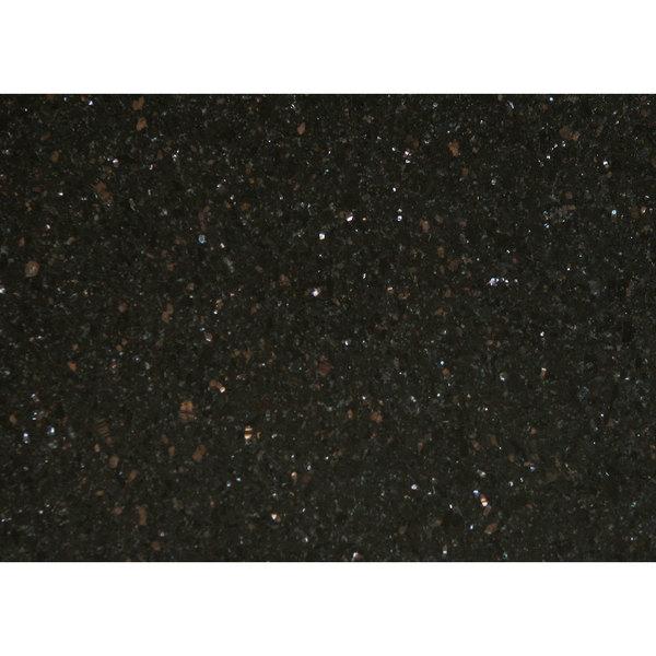 "Art Marble Furniture G206 30"" x 42"" Black Galaxy Granite Tabletop"