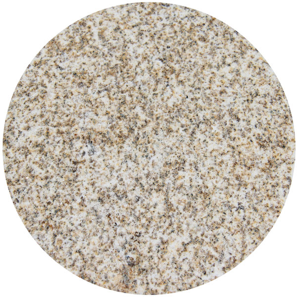 "Art Marble Furniture G212 54"" Round Giallo Gold Granite Tabletop"