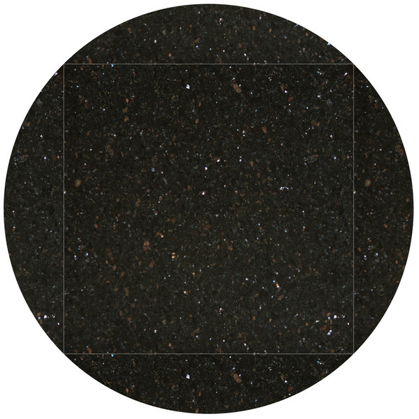 "Art Marble Furniture G206 51"" Round / 36"" x 36"" Black Galaxy Drop Leaf Granite Tabletop"