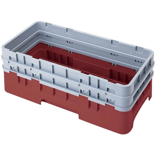 Cambro HBR578416 Cranberry Camrack Customizable Half Size Open Base Rack with 2 Extenders