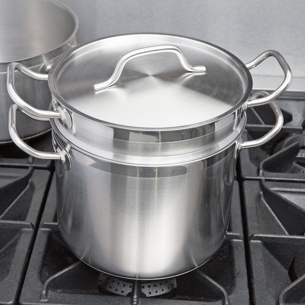 Vigor 8 Qt Stainless Steel Aluminum-Clad Double Boiler