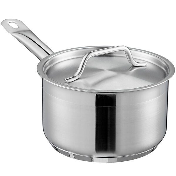 2 QT COMMERCIAL STAINLESS STEEL SAUCE PAN NSF