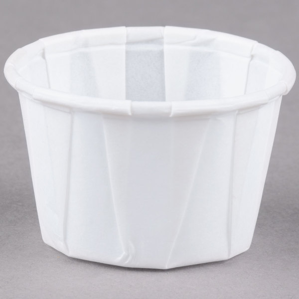 Dart Solo SCC100 1 oz. White Paper Souffle / Portion Cup - 250/Pack