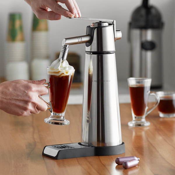 iSi 185001 Thermo Xpress Whip Stainless Steel Whipped Cream Dispenser - 1 Liter Main Image 2