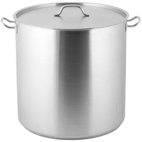 Vigor 100 Qt Heavy Duty Stainless Steel Aluminum Clad Stock Pot