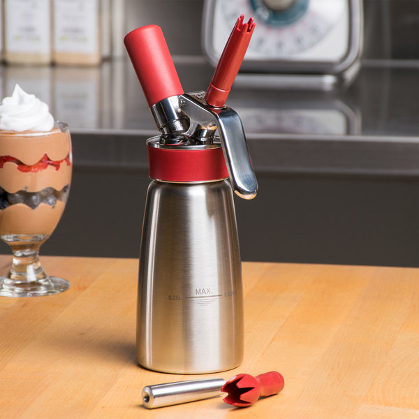 iSi 140301 Gourmet Whip Stainless Steel Whipped Cream Dispenser - .25 Liter Main Image 3