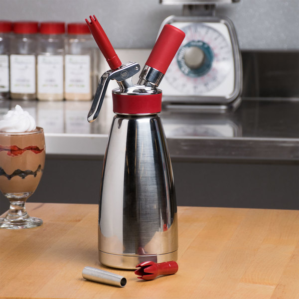 Isi 1801 01 Thermo Whip Stainless Steel Whipped Cream Dispenser With