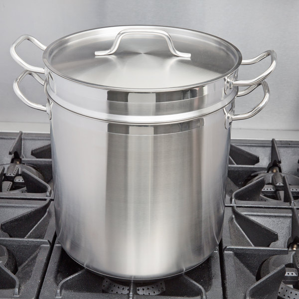 Vigor 20 Qt. Stainless Steel Aluminum-Clad Double Boiler