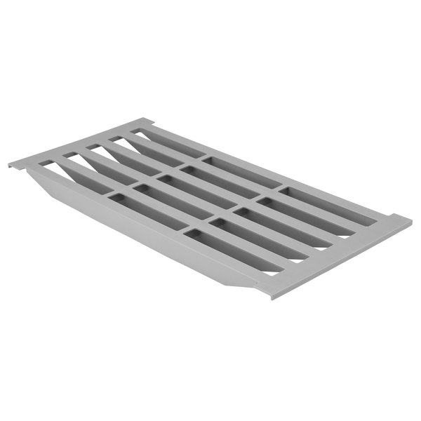 "Cambro CBSP186V151 18"" x 6"" Vented Shelf Plate for Camshelving® Basics Plus Series Main Image 1"