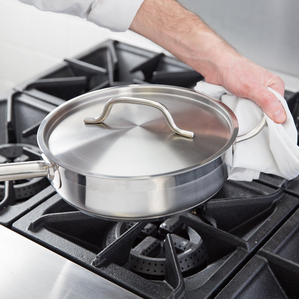 Vigor 3 Qt Stainless Steel Aluminum Clad Saute Pan With