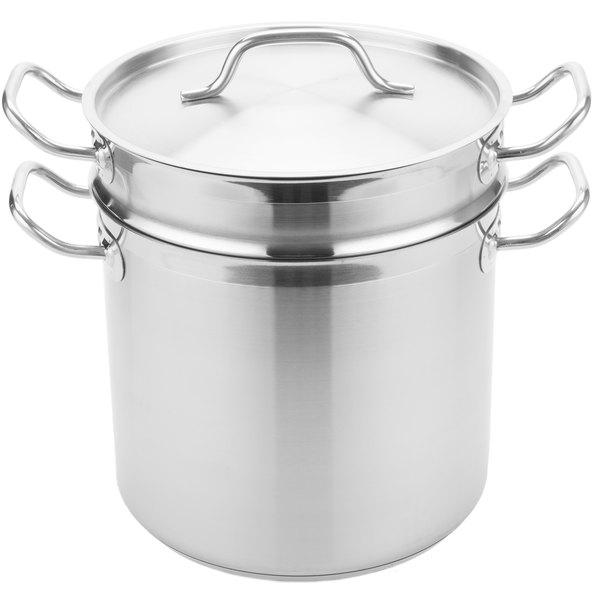 Vigor 12 Qt. Stainless Steel Aluminum-Clad Double Boiler