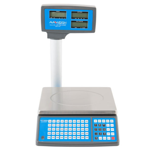 AvaWeigh PCS40T 40 Ib  Digital Price Computing Scale with Tower, Legal for  Trade