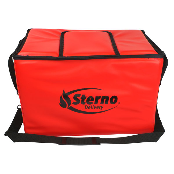 """Sterno Products 70540 18"""" x 11 1/2 """" x 11 1/2"""" Medium Stadium Insulated Food Carrier - Holds (48) Hot Dogs"""