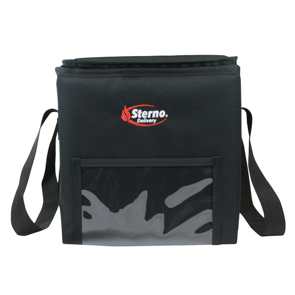 """Sterno Products 70520 14 1/2"""" x 14 1/2"""" x 14"""" 2XL Delivery Insulated Food Carrier - Holds (4) 9"""" x 9"""" x 3"""" Meal Containers"""