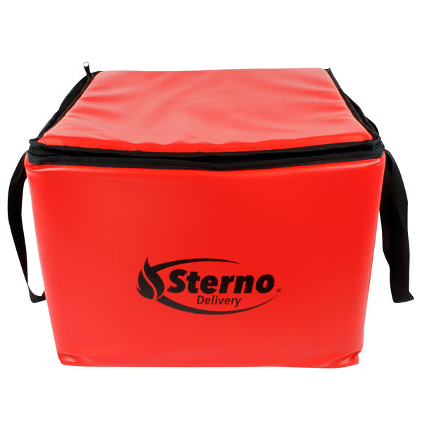 "Sterno Products 70502 18 1/2"" x 18 1/2"" x 14 1/2"" Medium All-Purpose Insulated Food Carrier - Holds (3) 16"" Dome Trays"