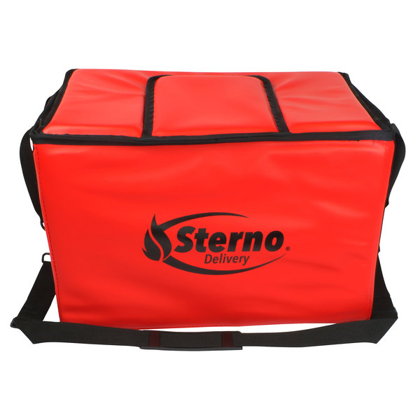 "Sterno Products 70542 22"" x 13"" x 14"" Large Stadium Insulated Food Carrier - Holds (90) Hot Dogs"