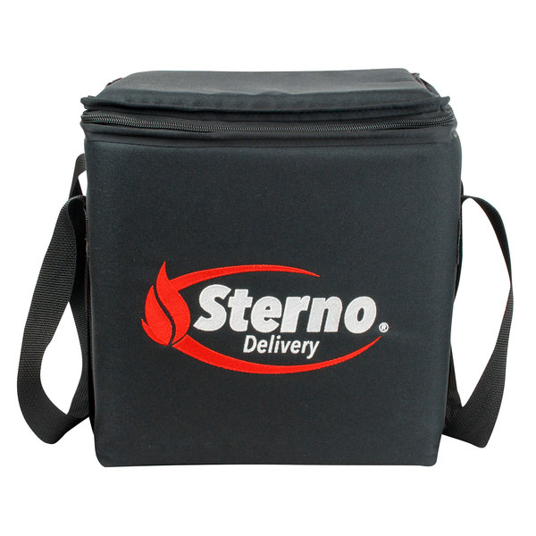 """Sterno Products 70516 11 1/2"""" x 11 1/2"""" x 12"""" Large Delivery Insulated Food Carrier - Holds (3) 9"""" x 9"""" x 3"""" Meal Containers"""