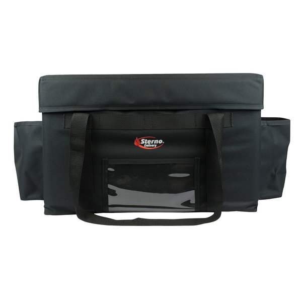 "Sterno Products 70524 14 1/2"" x 12"" x 13"" Small Delivery Deluxe Insulated Food Carrier - Holds (4) 9"" x 9"" x 3"" Meal Containers"
