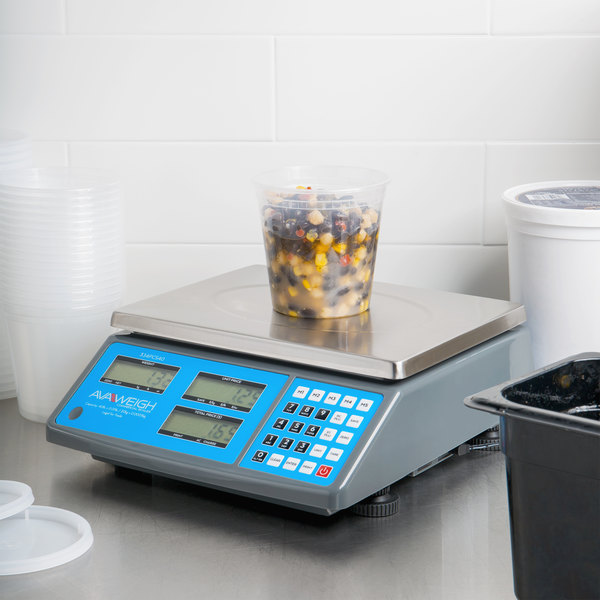 AvaWeigh PCS40 40 lb. Digital Price Computing Scale, Legal for Trade Main Image 4