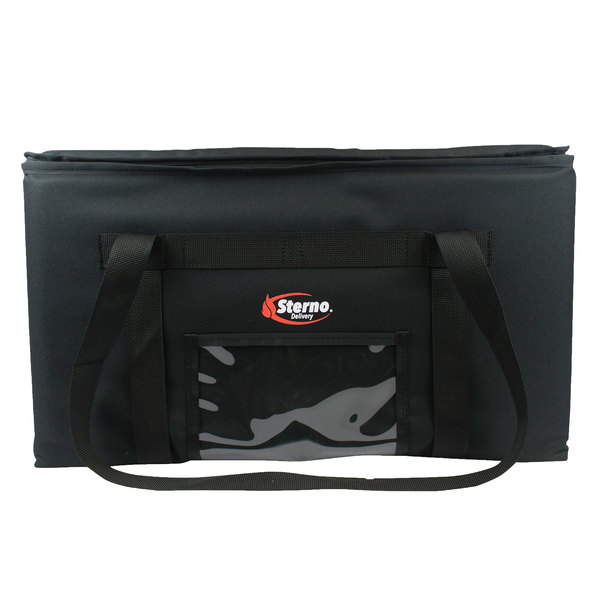 """Sterno 70508 Black Small Catering Insulated Food Carrier, 14 1/2"""" x 14 1/2"""" x 14"""" - Holds (3) 1/2 Size Food Pans Main Image 1"""