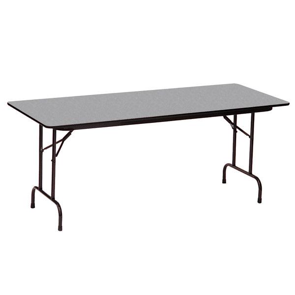 "Correll CF2496PX15 24"" x 96"" Gray Granite High Pressure Heavy Duty Folding Table Main Image 1"