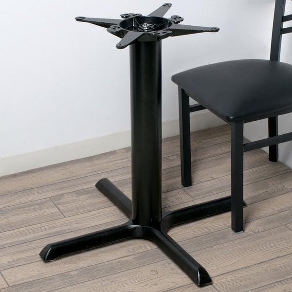 "Lancaster Table & Seating 30"" x 30"" Black 4 1/2"" Standard Height Column Table Base Main Image 7"
