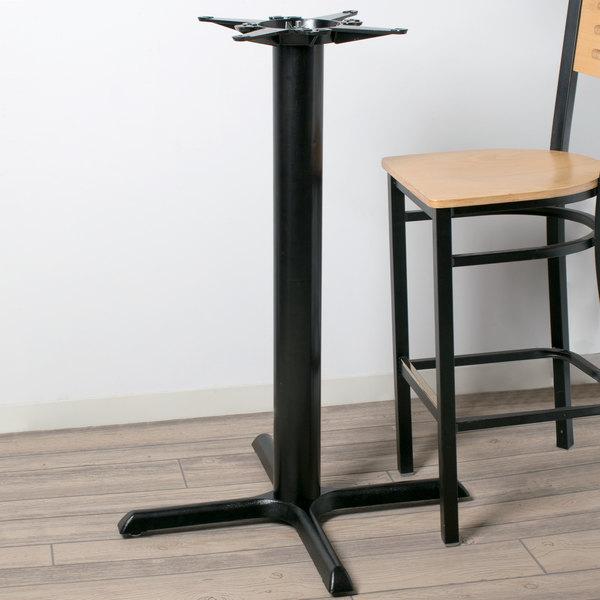 "Lancaster Table & Seating 30"" x 30"" Black 4 1/2"" Bar Height Column Table Base Main Image 7"