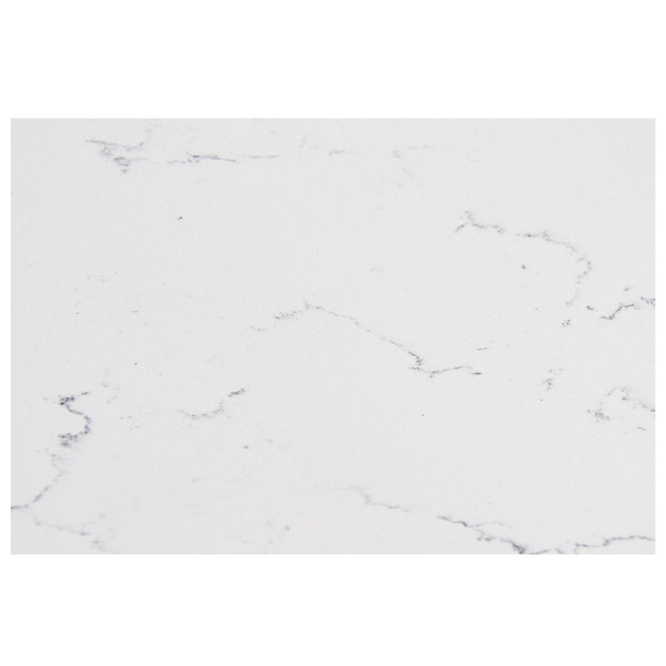 "Art Marble Furniture Q401 30"" x 42"" Carrera White Quartz Tabletop Main Image 1"