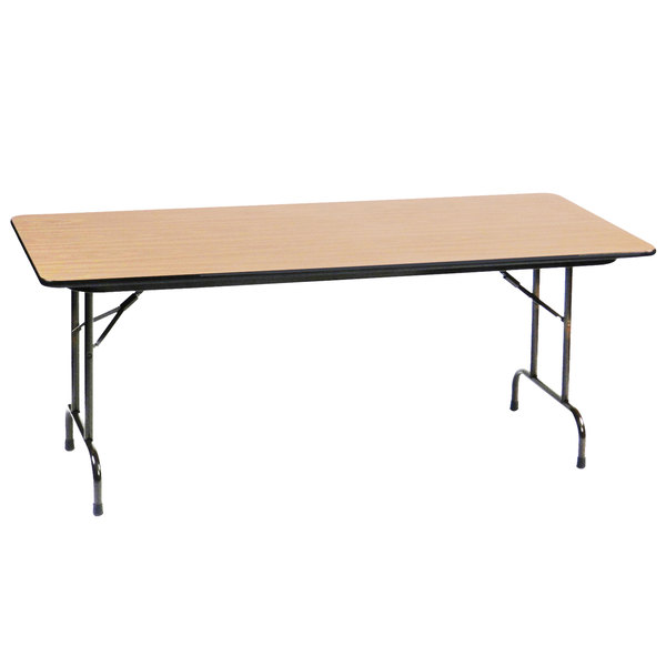 "Correll CF2496PX16 24"" x 96"" Fusion Maple High Pressure Heavy Duty Folding Table Main Image 1"