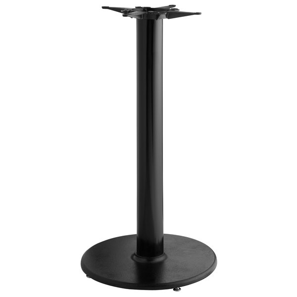 "Lancaster Table & Seating 22"" Round Black 4 1/2"" Bar Height Column Table Base Main Image 1"