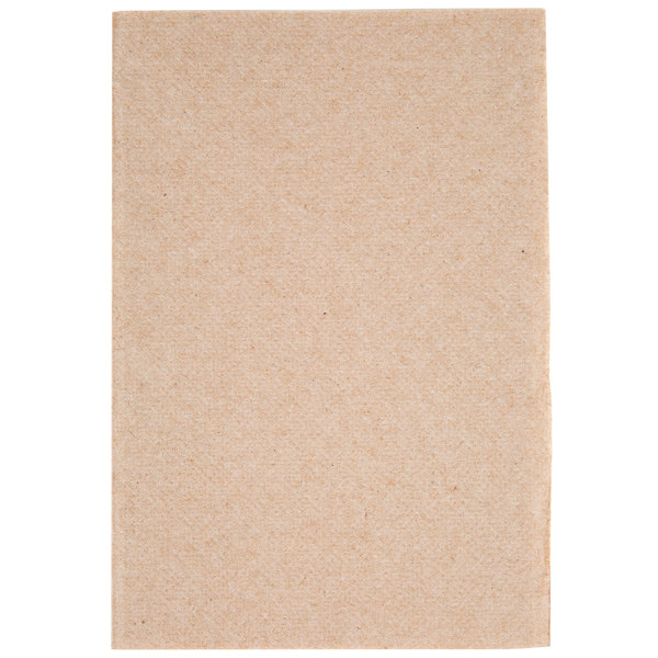 OneUp Nexgen by Choice Kraft Wide Interfold 6 1/2 inch x 8 1/2 inch Dispenser Napkin  - 500/Pack