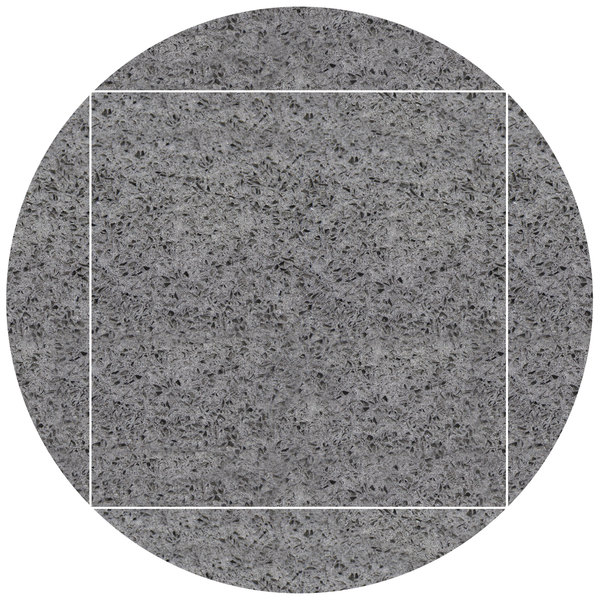 "Art Marble Furniture Q405 51"" Round / 36"" x 36"" Storm Gray Drop Leaf Quartz Tabletop Main Image 1"