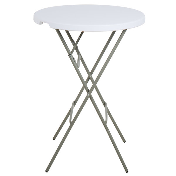 Lancaster table seating 32 round granite white heavy duty blow indoor or outdoor use thanks to its construction and bar height this table watchthetrailerfo
