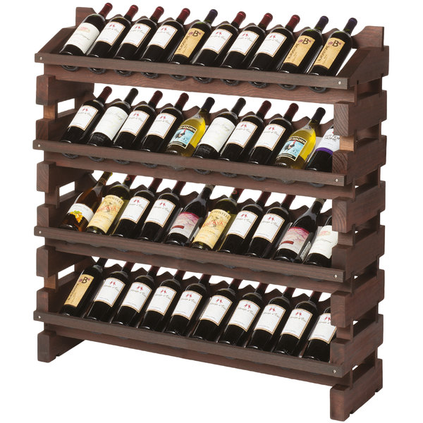 Franmara FD40-S Modularack Pro Full Display 40 Bottle Stained Wooden Modular Wine Rack Main Image 1
